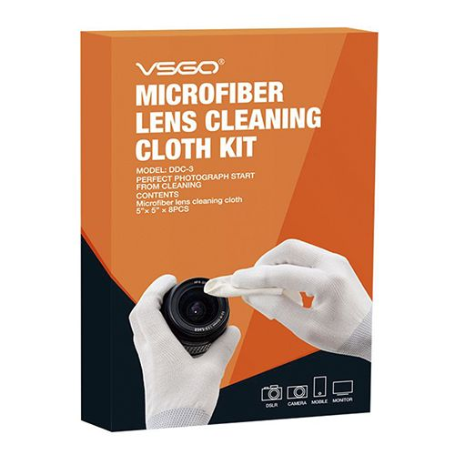 VSGO Microfiber Lens Cleaning Cloth Kit